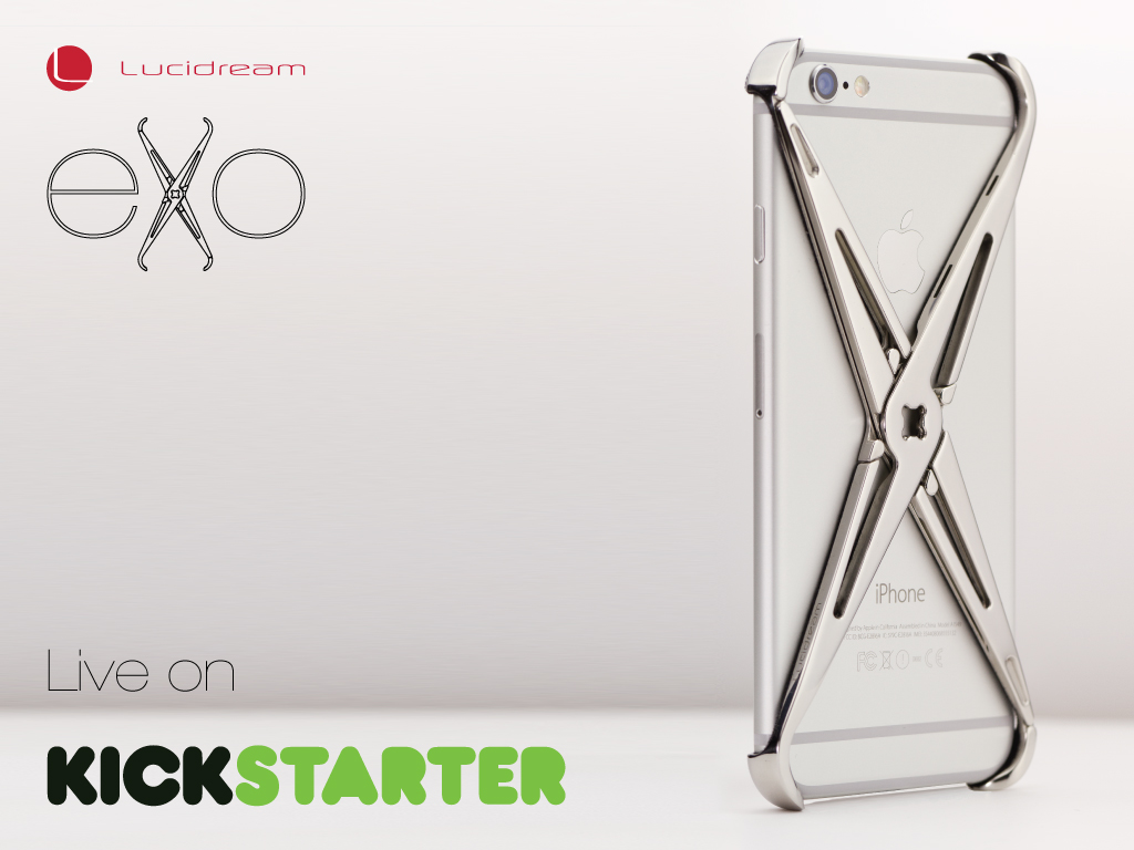 Kickstarter Lucidream eXo-Skeleton : The iPhone Case Reinvented